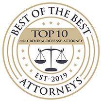Best of the Best Attorneys Criminal Defense Badge 2020